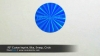 ".95"" Custom Imprint, Blue, Sweep, Circle"