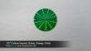 ".95"" Custom Imprint, Green, Sweep, Circle"