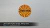 ".95"" Custom Imprint, Orange, Sweep, Circle"
