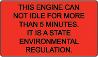 California Idling Policy Sticker
