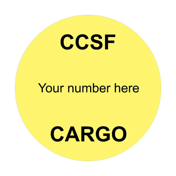 CCSF Cargo Stickers