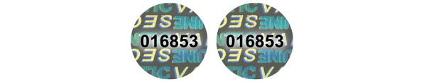 Hologram Labels, Serial Numbers