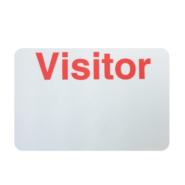 visitor badge backer