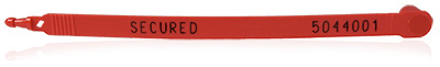 Plastic Band Seal, Red