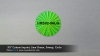 ".95"" Custom Imprint, Lime Green, Sweep, Circle"